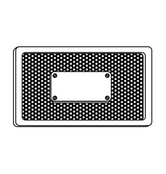 silhouette rectangle frame metallic with grill vector image vector image