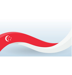 singapore waving national flag modern unusual vector image