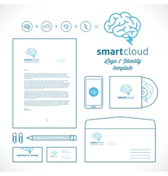Smart cloud logo and identity template vector
