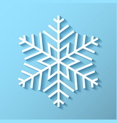 snowflake icon with shadow snowflake vector image