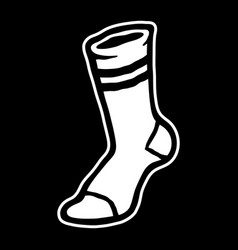 Socks clothing for feet vector