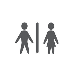 toilet icon on white background vector image