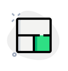 Top wide sidebar followed partition at bottom vector
