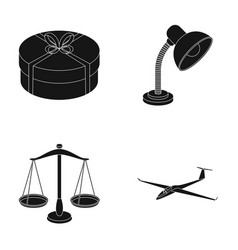 Transport service and other web icon in black vector
