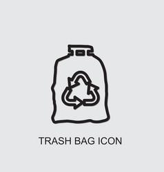 Trash bag icon vector