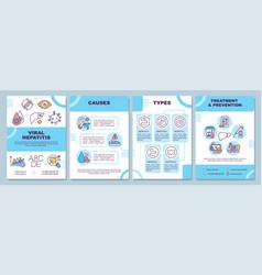 Viral hepatitis brochure template vector