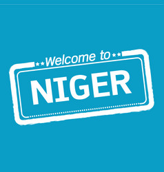 Welcome to niger design vector