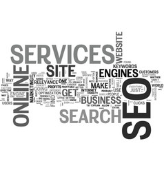 what seo services can do for your online business vector image