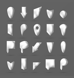 white paper or bone pointers set vector image
