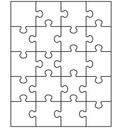 White puzzle 1 vector