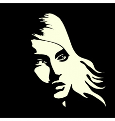 woman's portrait vector image vector image
