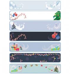 xmas winter banners vector image vector image