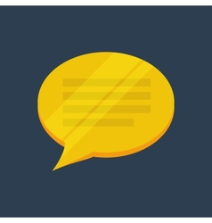 Abstract flat bubble golden icon vector image