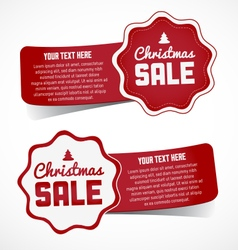 Christmas Sale Design Elements and Stickers vector image