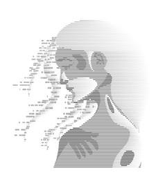 digital girl vector image vector image