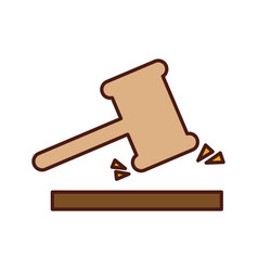 justice gavel isolated icon vector image