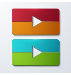 modern play set icons vector image