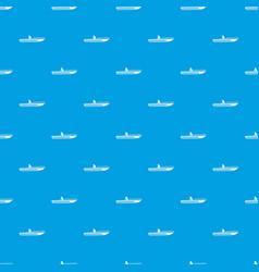 motor speed boat pattern seamless blue vector image
