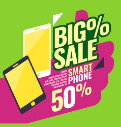 poster most selling smartphones with a percent vector image vector image