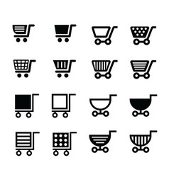 shopping cart icons design vector image