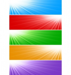 vector bright banners vector image