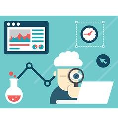 web analytics information and development vector image