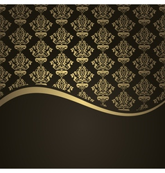 brown gols wave background vector image vector image