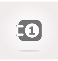calendar web icon vector image