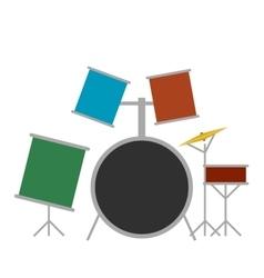 Drum set flat icon vector