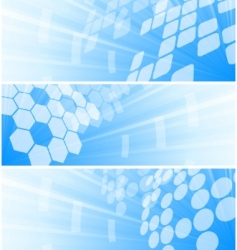 high tech banners vector image vector image