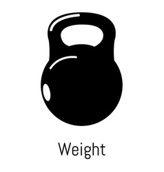 kettlebell icon simple black style vector image