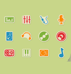 music simply icons vector image