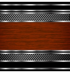 Steel and wood background vector image vector image