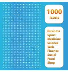 1000 icons white set vector image