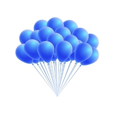 bunch birthday or party blue balloons vector image