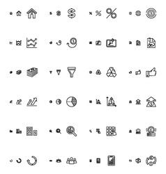 Financial responsive icons 3 vector