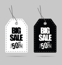 tag big sale set design on grey vector image vector image