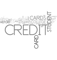 what sets a college student credit card apart vector image vector image