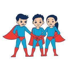 3 Heroes vector image