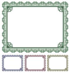 Certificate award vector image