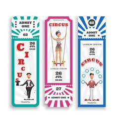 Circus entrance tickets vector