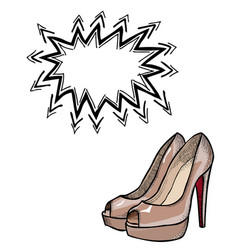 high heeled shoes-100 vector image vector image