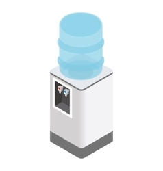 Isometric office water cooler vector image vector image