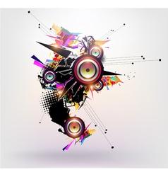 Speakers design vector image vector image