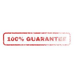 100 percent guarantee rubber stamp vector