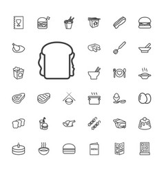 33 meal icons vector