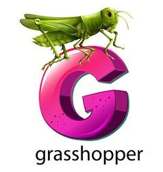 A letter G for grasshopper vector