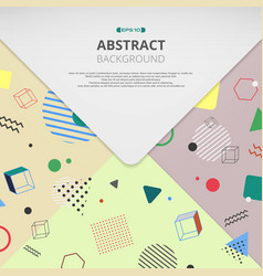 abstract of colorful geometrical pattern envelope vector image