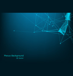 abstract science background polygonal geometric vector image