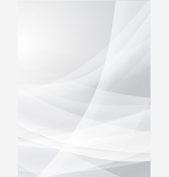 abstract white curve background eps10 vector image